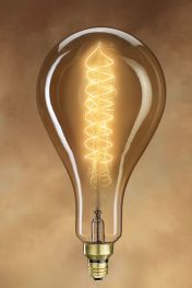 Giant Light Bulb, Corkscrew filament, 60W