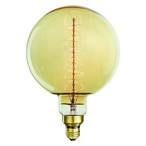 Giant Light Bulb, Round Ball, Corkscrew filament, 60W