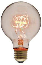 #5 Light Bulb, Quad Loop, Round Globe, 40w