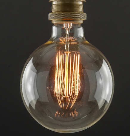 #1 Light Bulb, Squirrel Cage, Large Globe, 40w