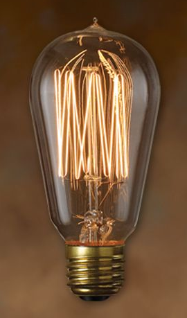 #7 Light Bulb, Squirrel Cage, Small Marconi, 40W or 60W