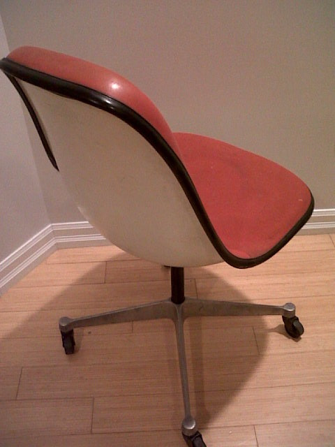 Original Eames Upholstered Fiberglass Shell Chair