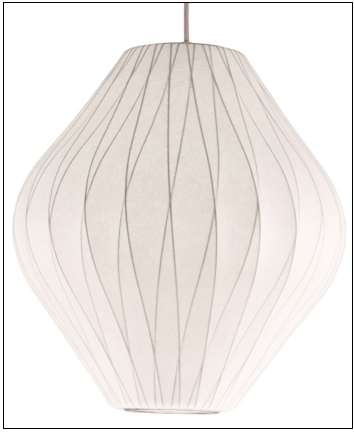 Pear Criss-Cross Bubble Pendant Lamp (George Nelson Reproduction)
