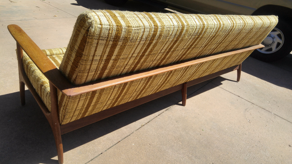 Vintage Long Teak Danish Modern Couch Frame Only