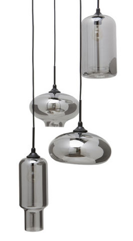 Wilma Pendant Light - Smoked Grey