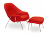 Womb (Woo) Chair and Ottoman (Replica of iconic Eero Saarinen womb chair)