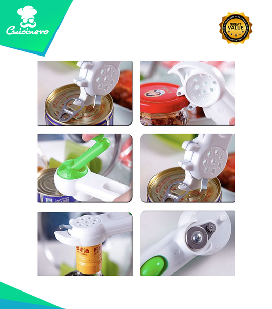 6 in 1 User Friendly & Easy To Use Can Opener
