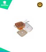 COPPER SQUARE 5-in-1 CASSEROLE PAN Complete Set