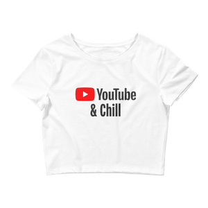 YouTube and Chill Crop Tee