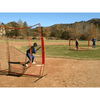 Image of Bownet 7' x 7' Softball Pitch Thru Screen w/ Frame BowSC-R Combo