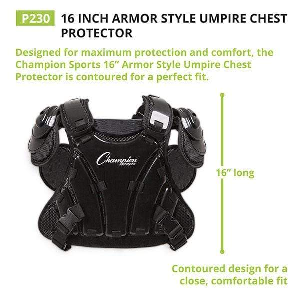 Small Black ADAMS USA UCP-LP-S-BK Umpire Chest Protector Low Profile Shirt