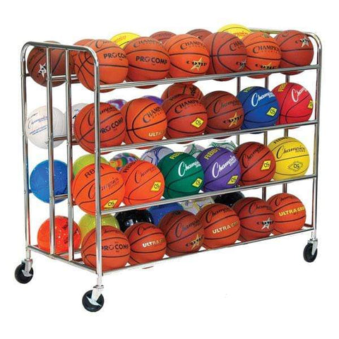 Champion Sports 48 Ball Double Wide Ball Cart BRC48