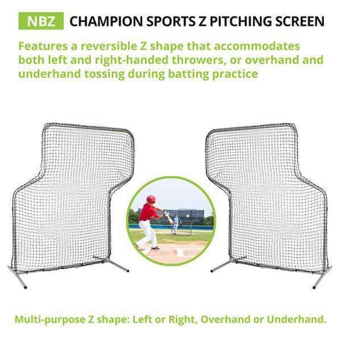"Champion Sports 5' x 7' Pitching ""Z"" Screen ZSCREEN"