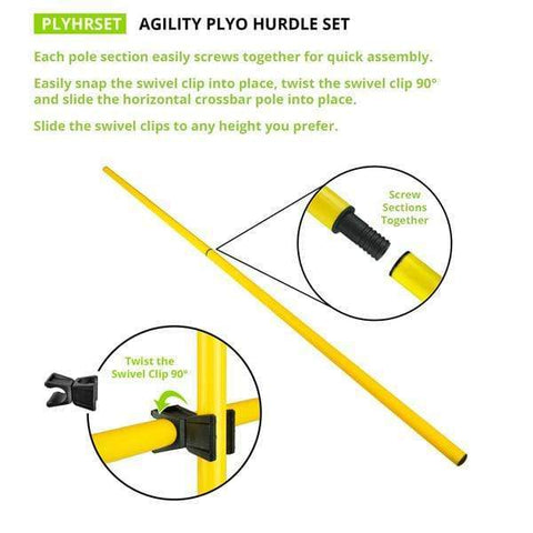 Champion Sports Agility Plyo Hurdle Set PLYOHRSET