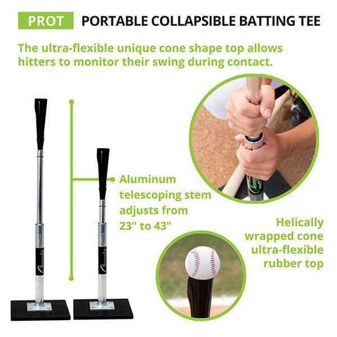 Champion Sports Aluminum Portable Collapsible Batting Tee PROT