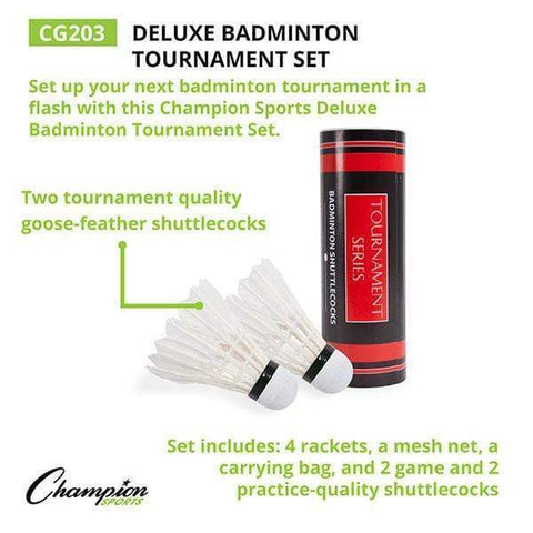 Champion Sports Deluxe Badminton Tournament Set CG203