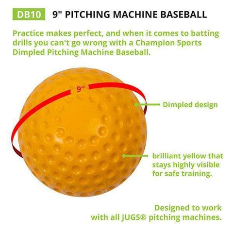 Champion Sports Dimpled Pitching Machine Baseball DB10