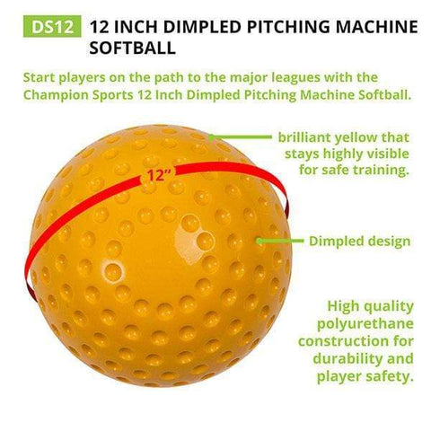 Champion Sports Dimpled Pitching Machine Softball DS