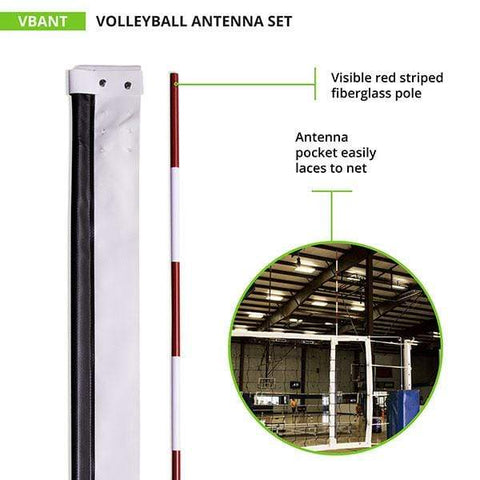 Champion Sports Volleyball Net Antenna Set VBANT
