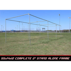 "Cimarron 2"" Complete Stand-Alone Batting Cage Frame"