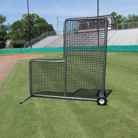 Cimarron 7' x 7' #84 Pitchers L-Screen w/ Wheels CMH-7x784PLNFW