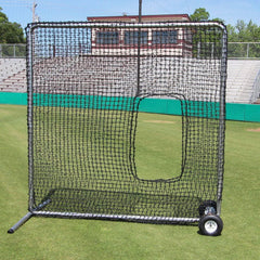 Cimarron 7' x 7' #84 Softball Pitching Screen w/ Wheels CMH-7x784PSBNFW