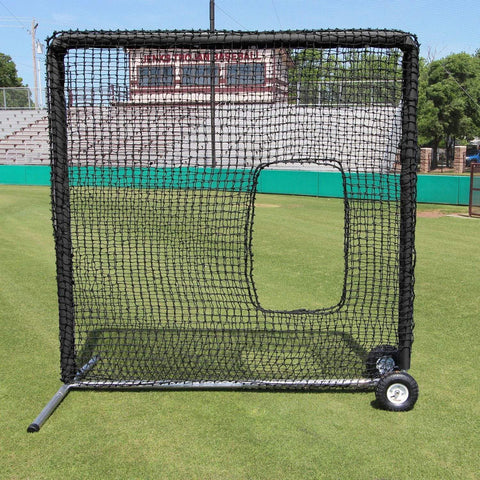 Cimarron 7' x 7' #84 Softball Pitching Screen w/ Wheels & Padding CMH-7x784PSBNFWP