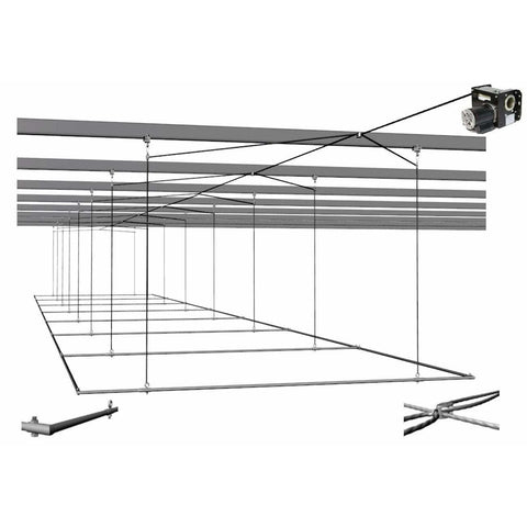 Cimarron Complete Batting Cage Air Frames with TW-2000 Winch