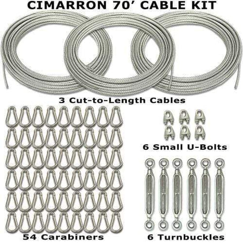 Cimarron Sports 70' Indoor Batting Cage Cable Kit CM-70CABKIT