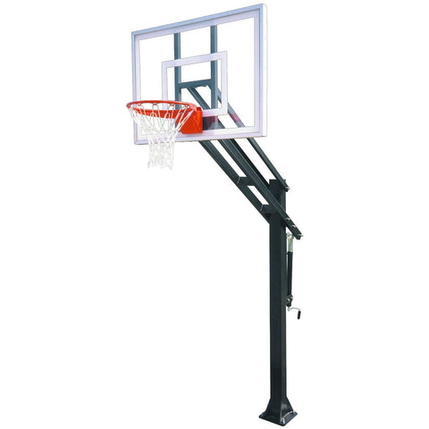 First Team Force In-Ground Adjustable Basketball Goal