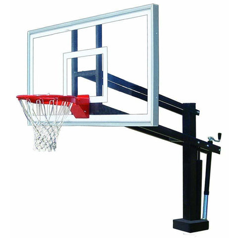 First Team HydroShot Stainless Steel Inground Pool Basketball Hoop