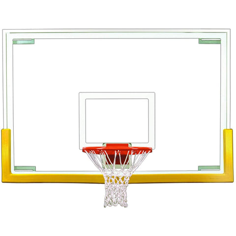 "First Team Tradition 48"" x 72"" Basketball Backboard Upgrade Package"