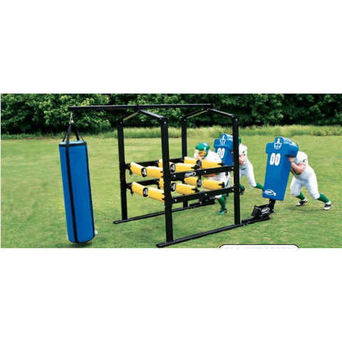 Fisher 12-Arm Power Blaster w/ Hanging Dummy & Boomer Sled BLA12HD9002