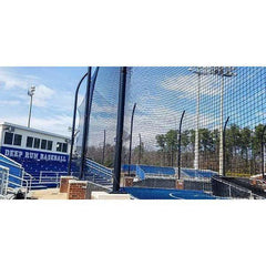 "Fisher Athletic 1 7/8"" SQ Sports Field Netting with 21' 3"" Pipe"