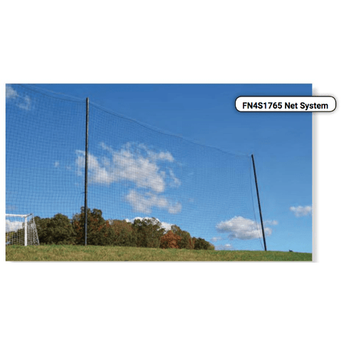 "Fisher Athletic 40' x 40' 4"" SQ Football End Zone Netting FN4S4040PS"