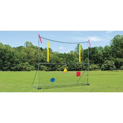Fisher College Portable Football Goal Post with 18'x21' Net 6000PGC1