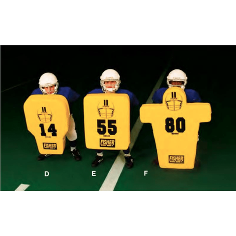 "Fisher Rectangular Body 6"" Thick Youth Football Blocking Shield HD505"
