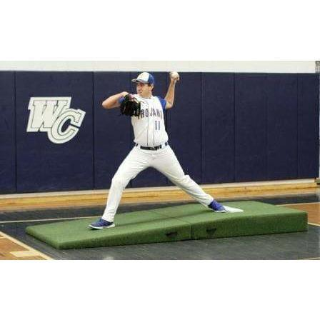 Fold 'N Roll High School/Collegiate Practice Pitching Mound Green Turf 417002FOLD