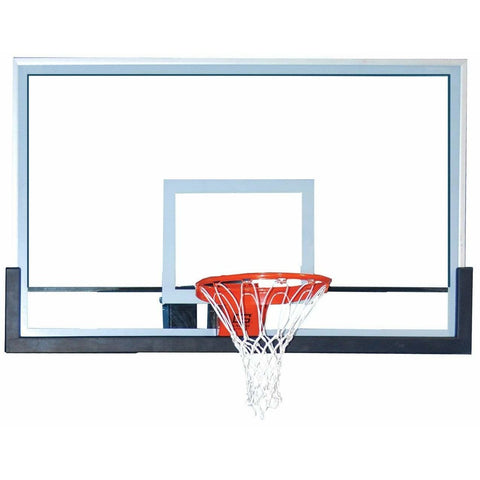 "Gared 42"" x 60"" Outdoor Pro Style Glass Basketball Backboard BB60G38HH"