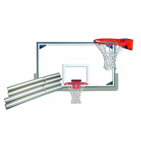 "Gared 42"" x 72"" Gymnasium Glass Backboard Package PKLXP10PS"