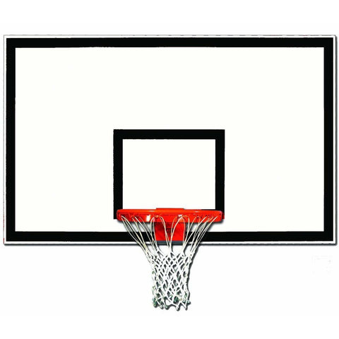 "Gared 42"" x 72"" Lightweight Full Sized Fiberglass Basketball Backboard 1342B-BLK"