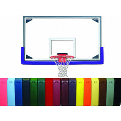 "Gared 42"" x 72"" Master Gymnasium Glass Backboard Package PKAFR30PM"
