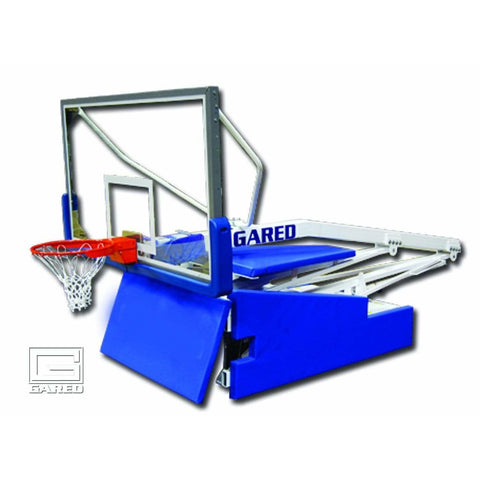 Gared Hoopmaster 5 Spring-Lift Collegiate/High School Indoor Portable Basketball Hoop 9405