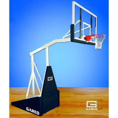 Gared Hoopmaster LT Spring-Lift Indoor Portable Basketball Hoop w/ 5' Boom 9305