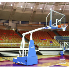 Gared Hoopmaster 8 Spring-Lift Collegiate/High School Indoor Portable Basketball Hoop 9408