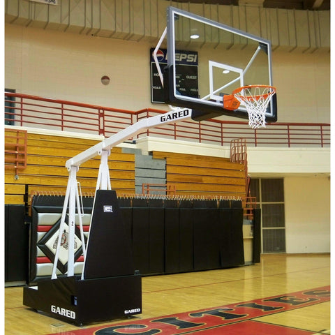 Gared Hoopmaster Spring-Lift Collegiate/High School Portable Basketball System
