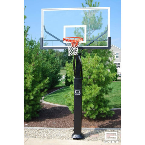 Gared Pro Jam In Ground Adjustable Basketball Hoop with Glass Board GP10G72DM