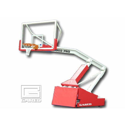 Gared Pro S Spring-Lift Portable Basketball System w/ 10' 8'' Boom 9618