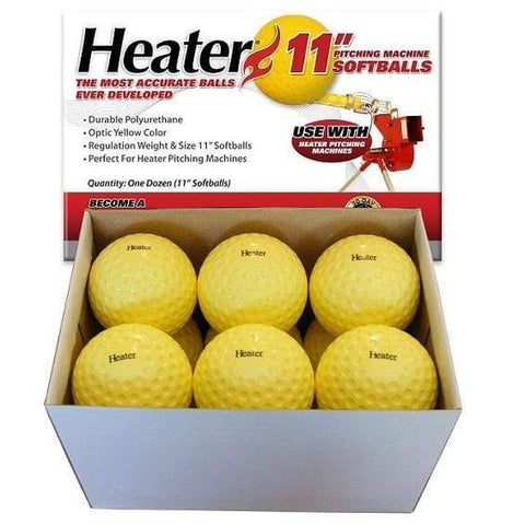 Heater 11'' Dimpled Pitching Machine Softballs (1 Dozen) PMB34