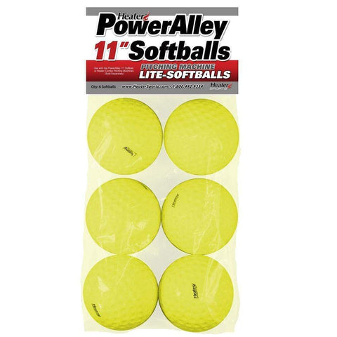 "Heater 11"" PowerAlley Lite Pitching Machine Softballs HSW11SB"